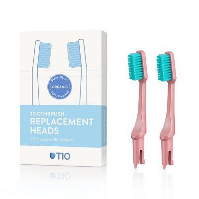 TIO: Cabezales cepillo dientes bioplástico, suave rosa