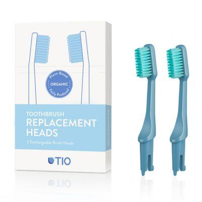 TIO: Cabezales cepillo dientes bioplástico, medio azul