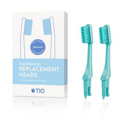 TIO: Cabezales cepillo dientes bioplástico, medio verde